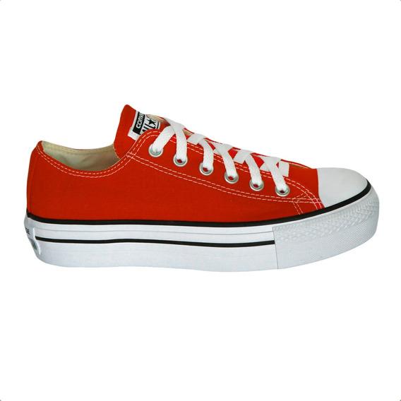 Tênis Converse Chuck Taylor All Star Platform Ox Vermelho