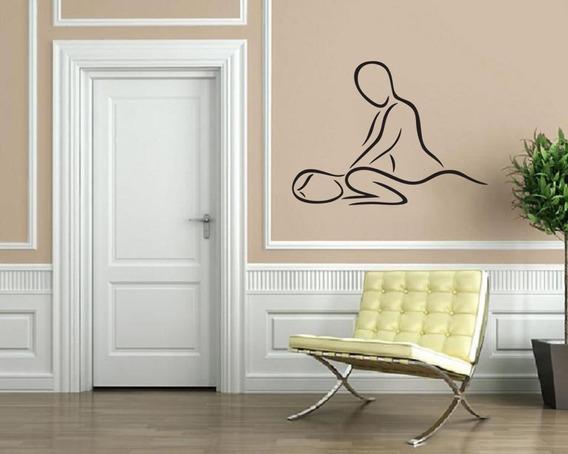 Adesivo Parede Decoração Spa Massagem Mulher Estética 66x90
