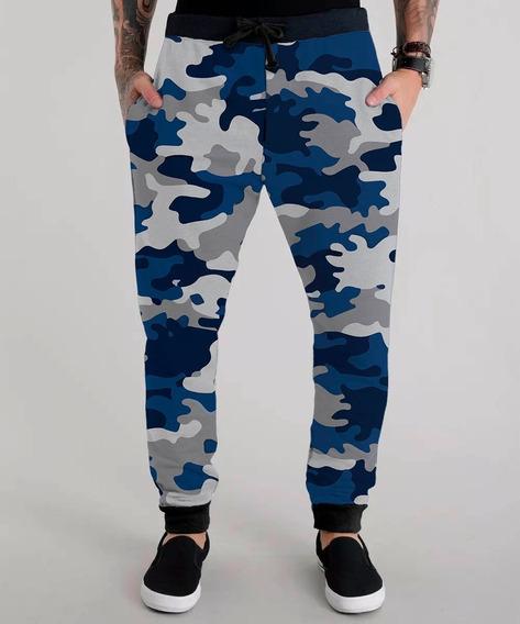 Calça Moletom Camuflada Soldado Navy Força Aérea Swag Tumblr