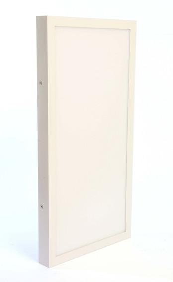 Luminária Plafon Retangular 30x120 48w Sobrepor Branco Frio