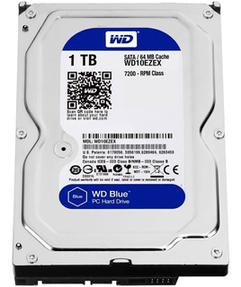Disco Duro Interno 1tb Sata Western Digital 7200rpm Pc
