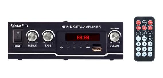 Amplificador 2x35w Mp3/bluetooth/usb/fm/110-220v 12v