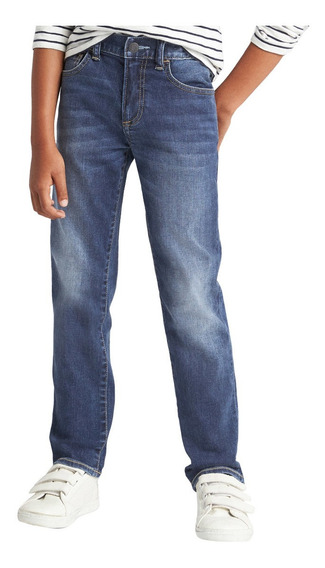 Pantalón Niño Jeans Mezclilla Skinny Fantastiflex Azul Gap