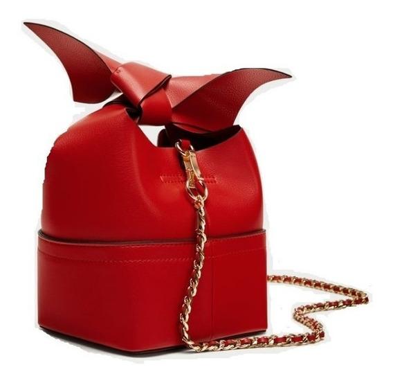 Cartera Zara Moño Roja