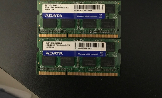 Ram Adata Notebook 4gb (2x 2gb) Ddr3 Pc3 10600s 999 2rx8