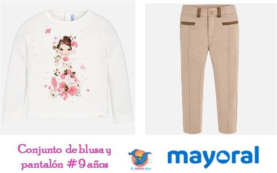 Conjunto Chic Blusa Pantalón Mayoral Niña 4554 #9 Años C