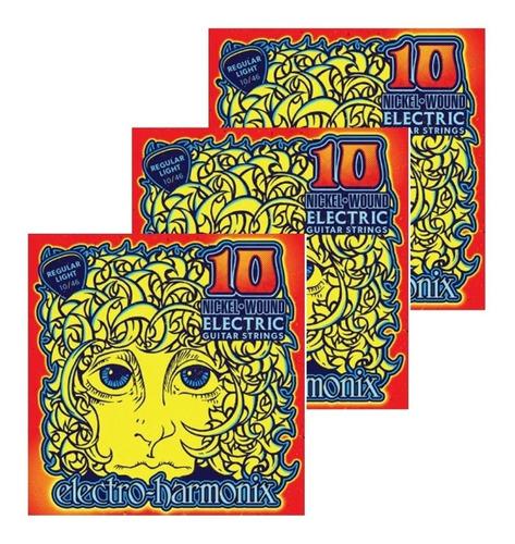Imagem 1 de 3 de Encordoamento Guitarra 010 Kit 03 Electro Harmonix Ehx