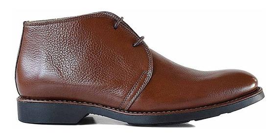 Bota Cuero Hombre Briganti Zapato Botita Goma - Hcbo00962 Fl