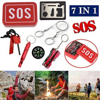 Kit Sobrevivência De Emergência 7 Em 1 Sos Com Nfe