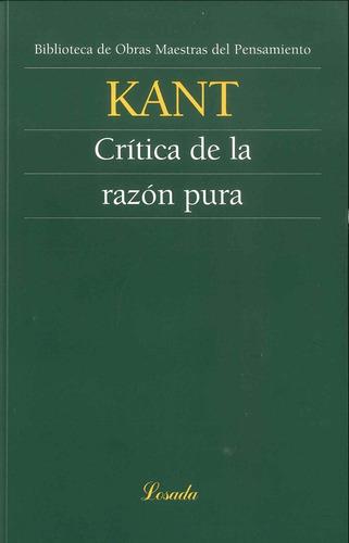 Critica De La Razon Pura - Kant - Losada