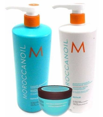 Moroccanoil Kit Repair Shampoo Enjuague X1000 + Mascara X250