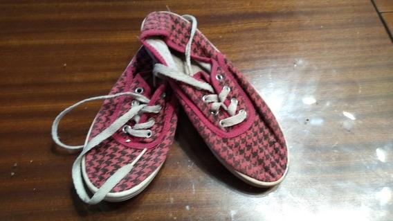 Zapatillas En Loneta Estampada Nro 31/2