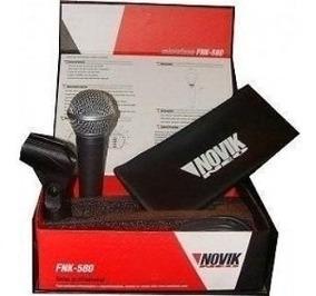 Microfone De Mão Com Fio Novik Fnk-580
