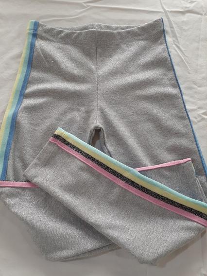 Pantalón Tipo Calza Nena Lurex Importado (elastizada)