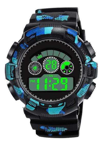 2 Relógio Analógico Digital Militar Do Exército Esporte Led