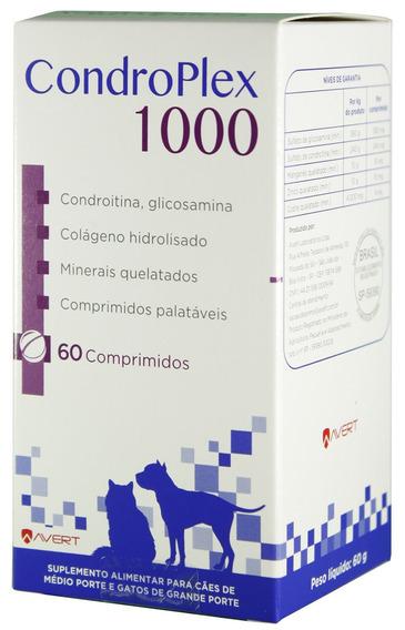 Suplemento Cães Gatos Avert Condroplex 1000 - C/ 60 Comp.