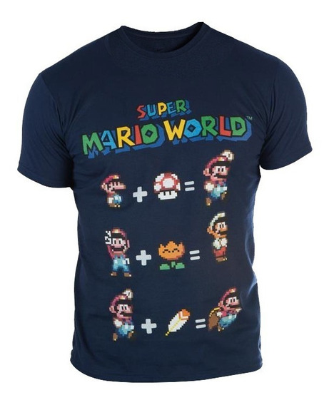 Playera Original Super Mario World Caballero Nueva Od.st