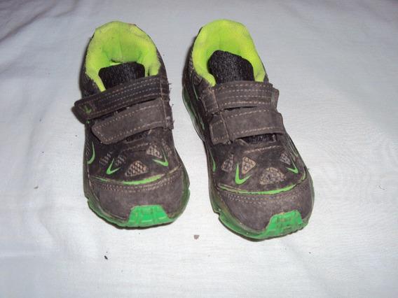 Tenis Infantil Menino Preto E Verde Lk Tamanho 25