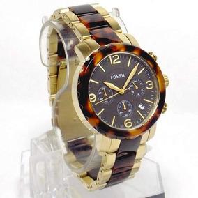 Fjr1382z Relógio Fossil Dourado Cronografo Feminino Original
