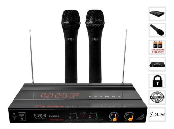 Poderoso Sistema D Microfonos Inalambricos Calidad Banda Uhf