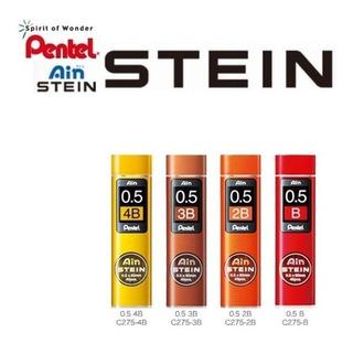 4 Tubos Grafite Pentel Ain Stein 0.5mm 4b 3b 2b B 160 Total