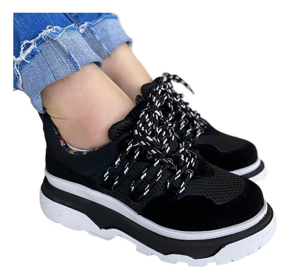 Tênis Feminino Farm Preto Chunky Sneaker Plataforma - B M