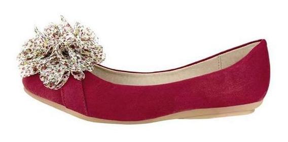 Zapatos Valerina Dama Casual Rojo Mundo Terra 127062