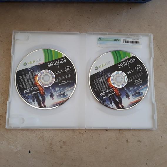 Jogo Battlefield 3 Original Xbox 360 2 Discos Em Ótimo Estad