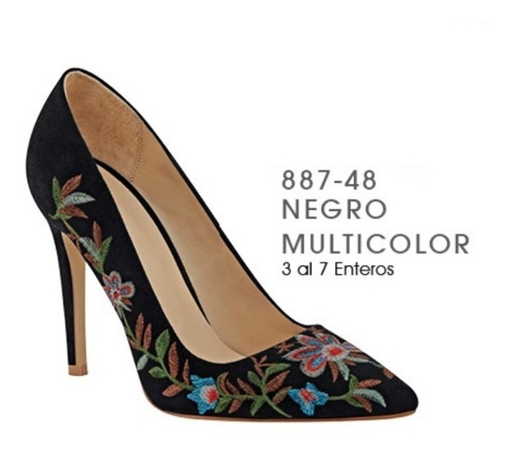 Zapatos Negro Bordado 887-48 Cklass/ Mundo Outlet