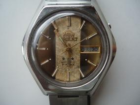 Relógio Orient Automático Bicolor Antigo E Raro Perfeito