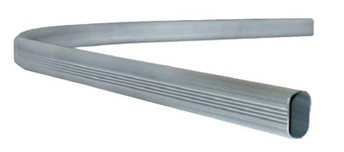 Tubo Para Closet Ovalado Esquinero  Aluminio 2 Mts Herrajes