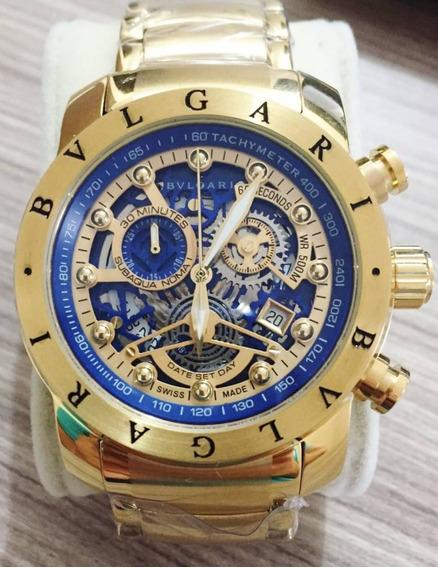 Relógio Bv Gold Venon Dourado 18k Top Promocional Linha Arua
