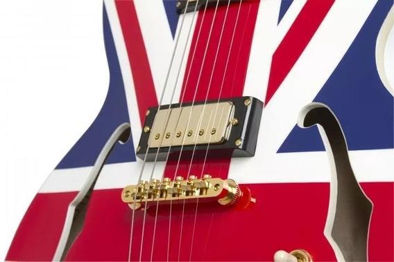 EpiPhone Sheraton Union Jack 1/2 Caja C/ Estuche No Fender