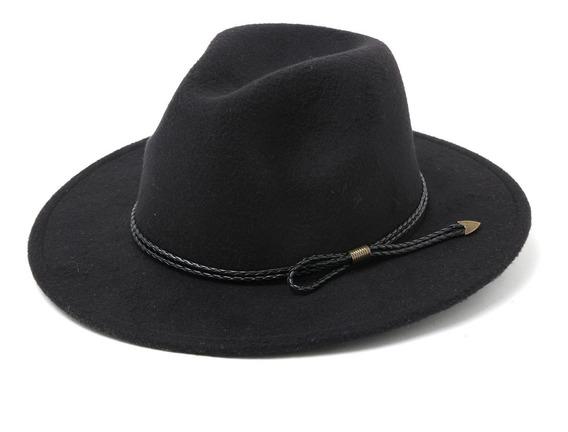 Sombrero Fieltro Paño Pharrel Mujer Hombre Tira (3 Colores)