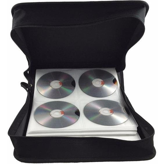 Porta Cd Maleta 256 Cd / Dvd / Blu-ray Couro Gigante