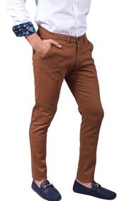 Pantalon Sr. Marino Gabardina Algodon Camello Cm-11