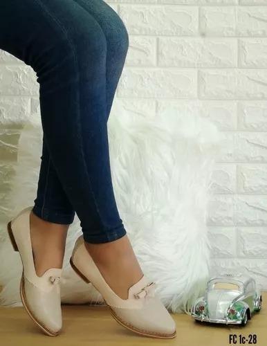 Zapato Casual Elegante Bajito Para Damas, Mujer