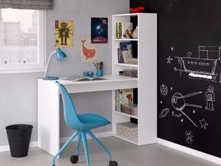 Escritorio Moderno Con Biblioteca Niños Mesa Pc