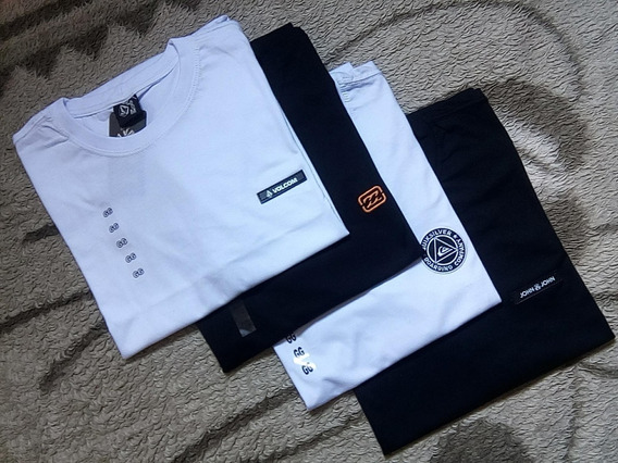 Kit Camisetas Masculinas Lisa Gg Camisa Básica Kit Com 4