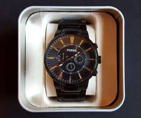 Relógio Fossil Cronógrafo, Black, Aço Ionizado Ffs4778z Nf