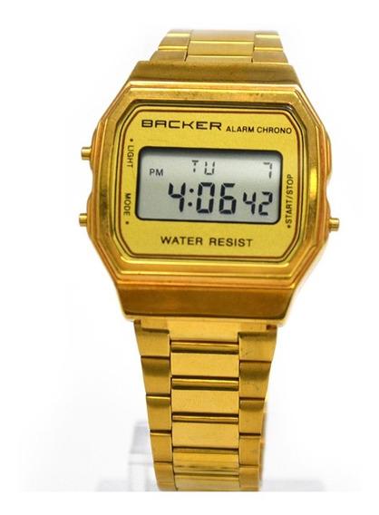 Relógio Vintage Dourado Barato - Becker 15000475m Ch