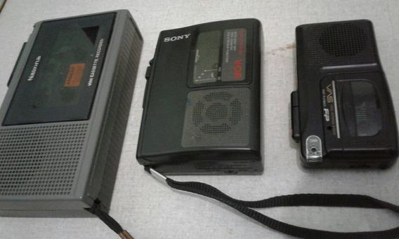 Gravadores Portateis - Kit Com 3 Gravadores
