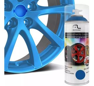 Tinta Spray Envelopamento Azul Fluorescente 400ml Multilaser