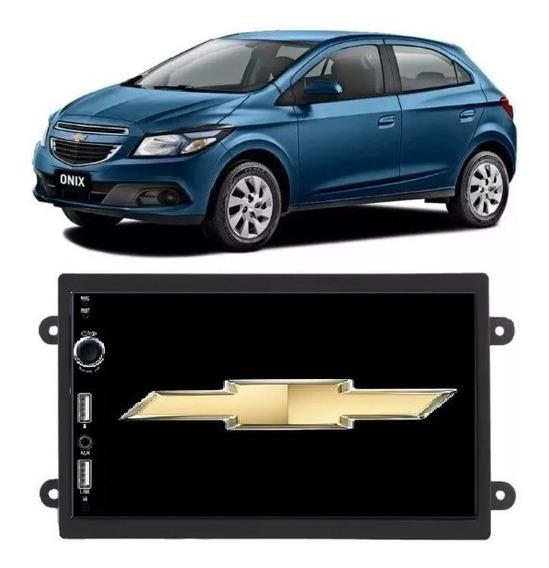 Central Mutimidia Mp5 2 Dim Onix Spin Cobalt Bluetooth Usb Câmera De Ré Espelhamento + Gaveta O Melhor Custo Benefício