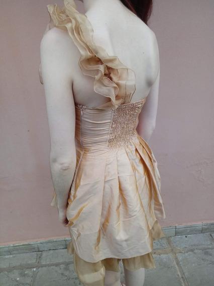 Vestido De Fiesta Color Dorado