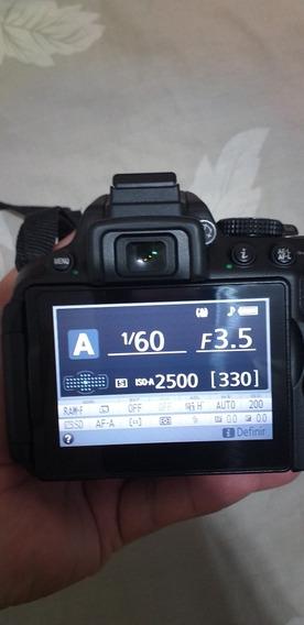 Câmera Fotográfica Nikon D5300+wifi+gps Lente 18x55