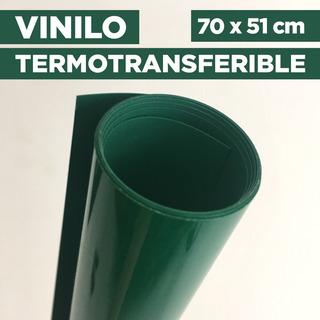 Vinilo Termotransferible Flex Color Verde 70 X 51 Cm