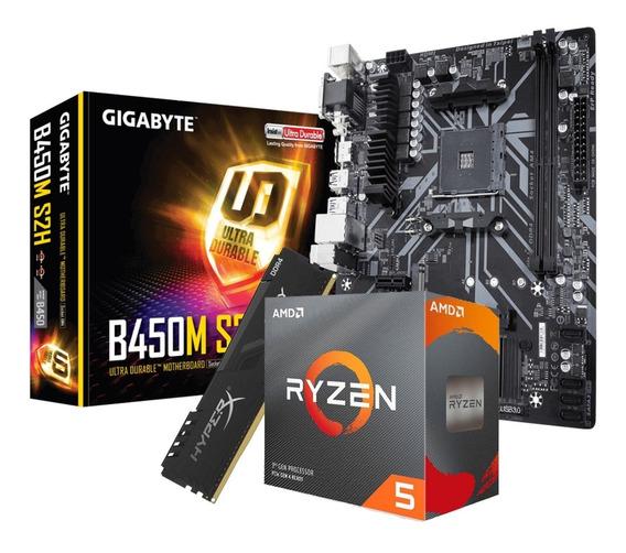 Combo Amd Ryzen 5 3600 + Gigabyte B450m S2h 8gb Ddr4