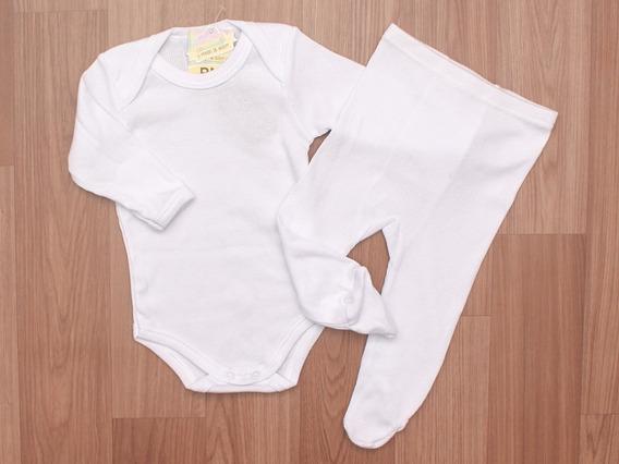 Conjunto Body E Calça Branco Com Proteção Uv +50