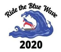 Ride The Blue Wave 2020 : A Gift Notebook For A Democrat ...